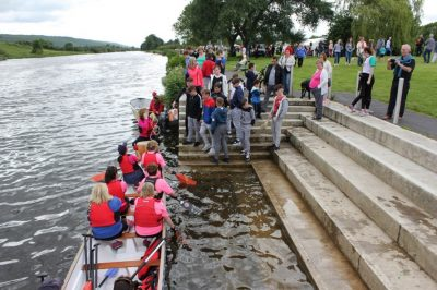 Accessing the river at Sean Healy Park